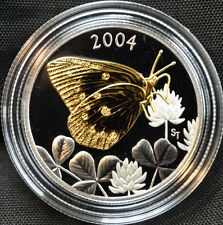 2004 Silver Fifty Cents Clouded Sulphur Butterfly Coin