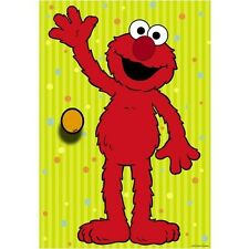 New! Sesame Street Elmo Party Game Pin the Nose on Elmo 12 x 17 inch/ 12 players