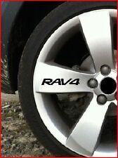 SET OF 8 RAV 4 RAV4ALLOY WHEEL STICKERS 4X4 OFF ROAD