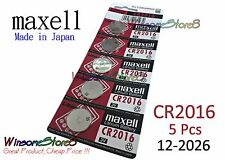 5pcs Maxell CR2016 2016 3V cell coin button battery for calculator Japan Made