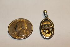 Sterling Religious Catholic saint Christopher Protect Us Medal Pendant 100000 a