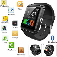 Black Bluetooth Smart Watch Camera For Android&IOS Iphone Samsung LG HTC