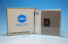 Minolta Exposure Bracketing Card Karte carte  - (81878)