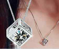 wholesale 925 silver necklace solid crystal Pendant jewelry birthday gift