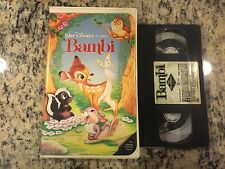 WALT DISNEY'S BAMBI OOP BLACK DIAMOND COLLECTION CLAMSHELL VHS CLASSIC ANIMATION