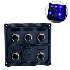 Excellent! Boat Marine RVS PN-TF5J-S Electric 5 Gang Led Toggle Switch Panel -AM