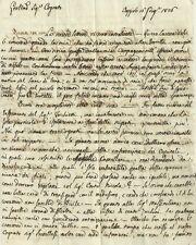 Lettera inviata da Caggiolo a Bernardo Moscheni Auditore Regia Ruota Lucca 1826