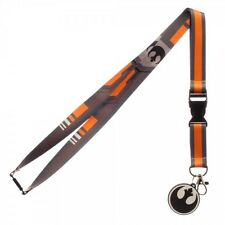 Star Wars Black Rebel Fighters Lanyard ID Badge Holder with Charm Key Ring