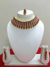 Indian Designer Bollywood Gold Plated Fashion Bridal Jewelry Necklace Set