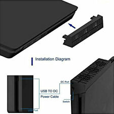 Cooling Fan Heat Exhauster Coolingpad Temperature Control for PS4 Slim BY