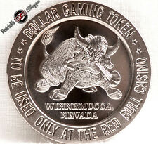 $1 PROOF-LIKE SLOT TOKEN JOE MACKIE'S RED BULL CASINO 1966 FM WINNEMUCCA NV COIN