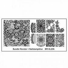 Bundle Monster XL Stamping Schablone Plate BM-XL-206 Nailart Ornament Tribal
