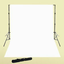 Photo Video 10x24 White Muslin + Background Stand