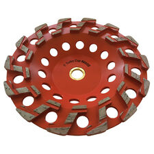 "7"" #20/25 Aggressive Diamond Grinding Concrete Cup wheels For 7/8""-5/8"" Arbor"