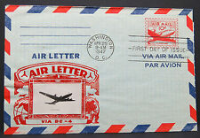 US Air Letter 10c FDC Aircraft Douglas DC-4 First Day Ersttag Luftpost (Lot 7035
