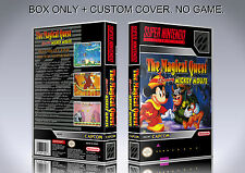 THE MAGICAL QUEST MICKEY MOUSE. Box/Case. Super Nintendo. BOX + COVER. (NO GAME)