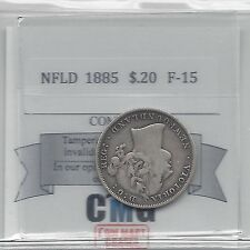**1885**Coin Mart Graded Newfoundland, 20 Cent, **F-15**