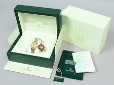 Estate 18K Gold 179173 Ladies Rolex Datejust Diamonds Wristwatch w Box & Papers