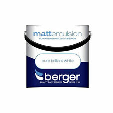 Berger Matt Emulsion Pure Brilliant White - Walls & Ceillings Paint 5L