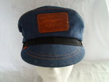 Vintage Levi's Orange Tab Denim Motorcycle Cap Hat Newsboy Cabbie Medium 7 7 1/8