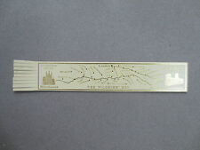 BOOKMARK Leather The PILGRIMS WAY Winchester to Canterbury Route CREAM / GOLD