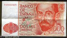 2000 Pesetas 1980 Juan Ramón Jiménez @@ M.B.C. @@ serie 9 A @@