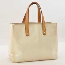 Authentic  Louis Vuitton Vernis Reade PM Hand bag White M91336 #S3022 E
