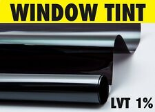 LIMO BLACK 1% CAR WINDOW TINT 6M x76CM TINTING FILM