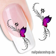 Nail Art Nageldesign Water Transfer Nagel Sticker Aufkleber Schmetterling XF1438