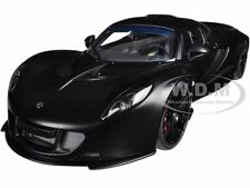 HENNESSEY VENOM GT SPYDER MATT CARBON BLACK 1/18 DIECAST MODEL CAR AUTOART 75401