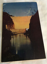 1951 Hoover Dam At Night Postcard Desert Souvenir Supply Boulder City NV