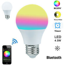 E27 4.5W Bluetooth Control LED Bulb RGB Smart Night Light Lamp For IOS Android