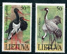 LITHUANIA 1991 STORKS - BIRDS SET MINT NEVER HINGED COMPLETE!
