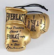 Muhammad Ali gift to Elvis of Boxing Gloves reproduced in miniature