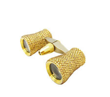 Ladies Gold Crystal Mini Binoculars Theater Opera Glasses w/ Swarovski Crystals