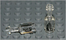 Lego Pirates x2 Trans Clear Bottle w/ Ship Rum Wine Food City Minifigure NEW