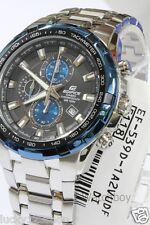 EF-539D-1A2 Casio Watch Edifice Steel Chronograph Black Blue New Color Analog