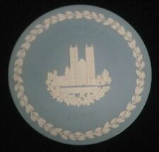 Wedgwood Blue Jasper Ware Collector Plate Westminster Abbey Christmas 1977