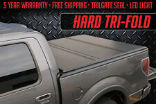 NEW Solid TriFold Tonneau fits 2014-2016 GMC Sierra 5'8 Bed Truck Bed Cover