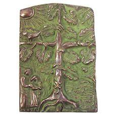 Bronze Relief Lebensbaum Famlilie 13 cm * 9 cm Bronze relief tree of life