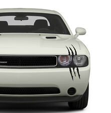 "(1 Decal Kit) 16"" Claw Scratch Monster Slash Decals Hood Headlight Mean Machine"