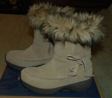 8 New With Box Sorel Northern Lite Tan Winter Boots Faux Fur