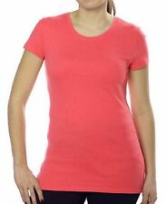 NEW Kirkland Signature Women's Premium Pima Cotton Crew Neck T-Shirt Coral M
