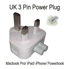 UK MAINS AC APPLE MACBOOK PRO Plug Adapter 45w / 60w / 65w/ 85w Replacement