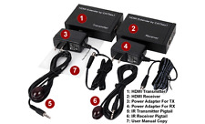 HDMI Over CAT6 Extender Kit  + IR Remote Control Extender - Max 1080p 1920x1080