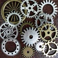 DRAWER Lot  13pc Steampunk Vintage pocket watch gears charms parts gear mix 125