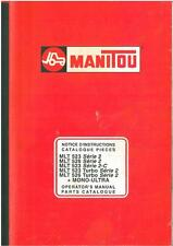 MANITOU MLT523 MLT526 - SERIES 2, TURBO, MONO-ULTRA 523 526 OPS & PARTS MANUAL