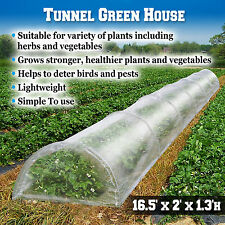 16.5'X2'X1.3'H Mini Long Tunnel Greenhouse Outdoor Plant Gardening Green House