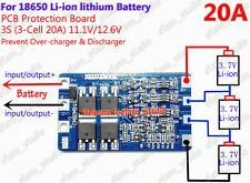 20A BMS Protection PCB Board for 3 packs 18650 Li-ion lithium Battery Cell 3S