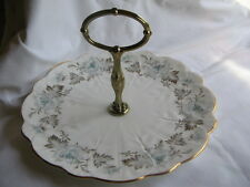 Aynsley English bone china cake sandwich plate stand with handle FREE UK P & P